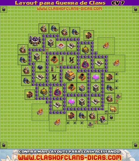 layout hibrido cv 7 com dispersor aereo layouts de cv 7 para guerra de clans clash of clans