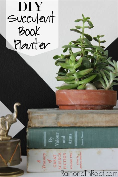 How To Make A Book Planter by Diy Succulent Book Planter