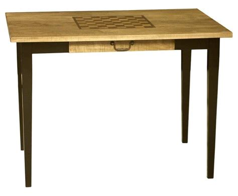 Checkers Table by Amish Handcrafted Ashton Chess Or Checkers Table
