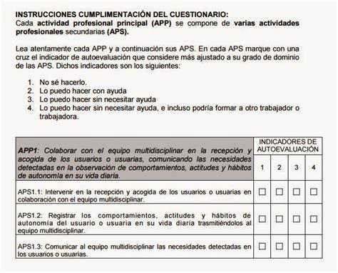 preguntas genericas y especificas evalcompes cuestionario de autoevaluaci 211 n de competencias