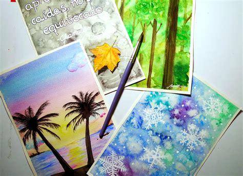 imagenes para pintar en acuarela 4 ideas f 225 ciles y divertidas con acuarelas youtube