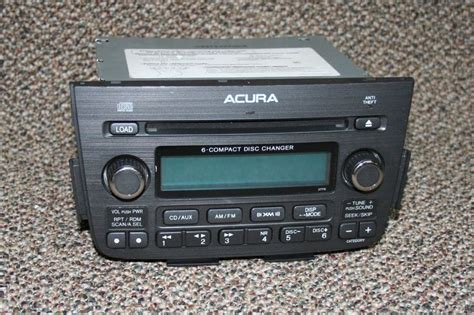 acura 6 compact disk changer radio premier equipment