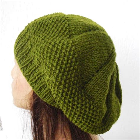 knitting patterns for hats knit beret hat pattern a knitting