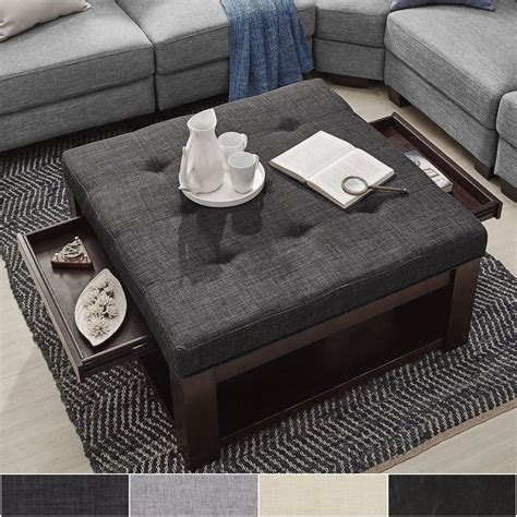 Ottoman As Coffee Table 25 best ideas about storage ottoman coffee table on