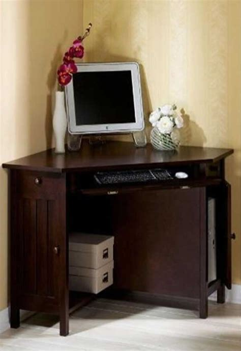 Small Corner Desks For Home Small Corner Oak Home Office Computer Table Home Decor Pinterest Small Corner Desks And