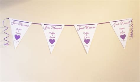 Wedding Bunting Banner by Wedding Bunting Banner Butterfly Or Design Various