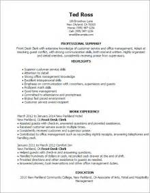 Desk Clerk Cover Letter by Front Desk Clerk Description For Resume Hostgarcia