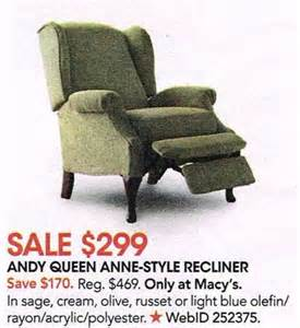 andy style recliner chair assorted colors at