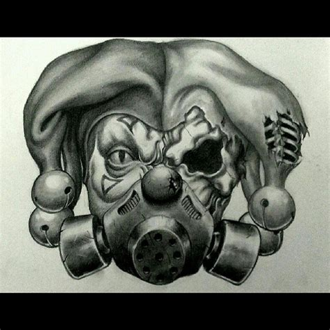 tattoo design commission joker jester clowns skulls s