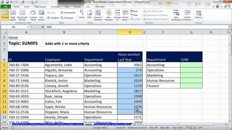 excel data analysis sort filter pivottable formulas