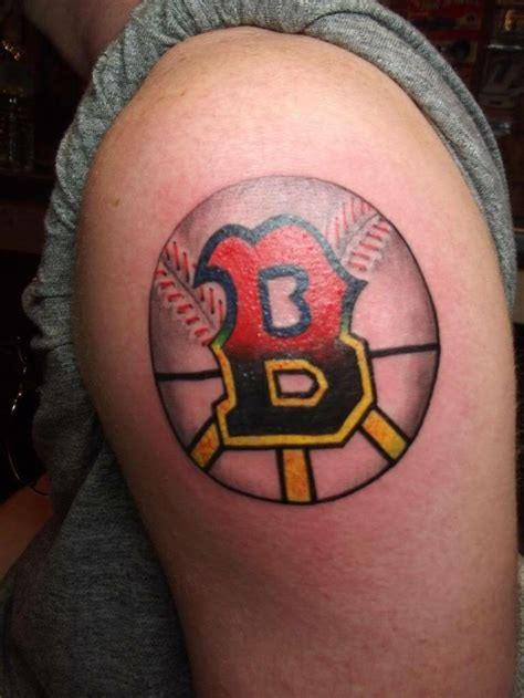 red sox tattoo of the letter b half for boston sox other