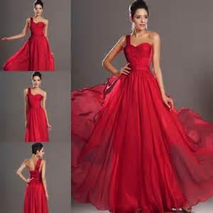dark red one shoulder evening dresses bridesmaid dresses