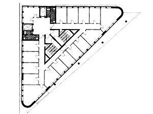 triangle floor plan triangular buildings plans google search langebaan