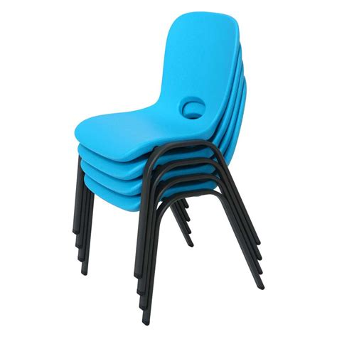 Lifetime Stacking Chairs by Lifetime Childrens Stacking Chairs 80472 4 Pack Glacier Blue
