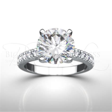 shoulder set engagement ring teresina from bigger