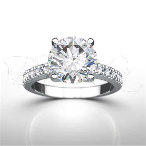 1ct D/Si1 Shoulder Set Engagement Ring   BD4L