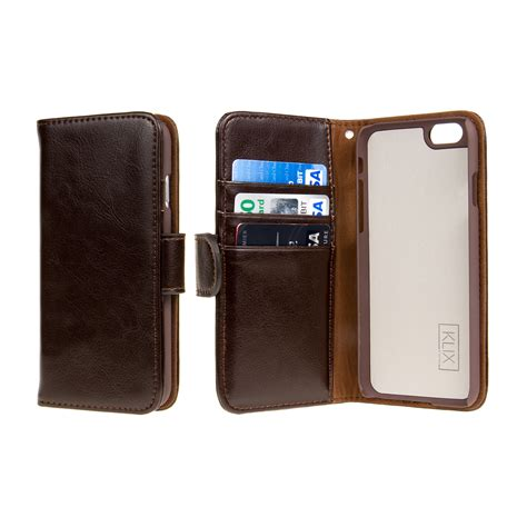 apple iphone 6 iphone 6s genuine leather wallet cases klix genuine leather wallet series