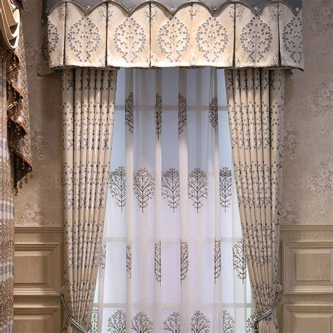 Modern Print Curtains Modern Curtains Beige Tree Pattern Print Room Darkening No Valance