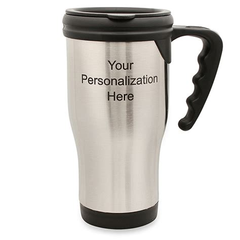 coffee mug with handle personalized stainless steel travel coffee mug with handle