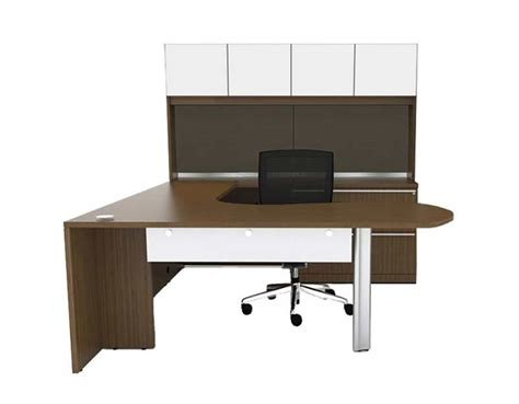 U Shaped Desks With Hutch U Shaped Office Desk With Semi Lateral Pedestal Hutch Ch V 727 Desks
