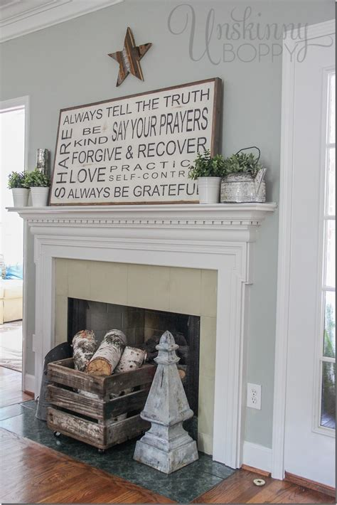 FAMILY RULES SIGN ON A LATE SUMMER MANTEL   Unskinny Boppy