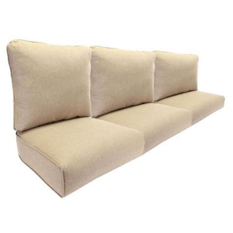 replacement cushion for sofa hton bay woodbury replacement outdoor sofa cushion in