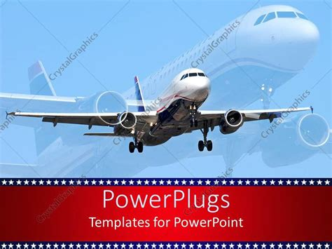 powerpoint template aircraft 1462