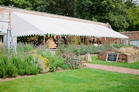 wedding reception in garden uk wedding venue the pythouse kitchen garden wiltshire