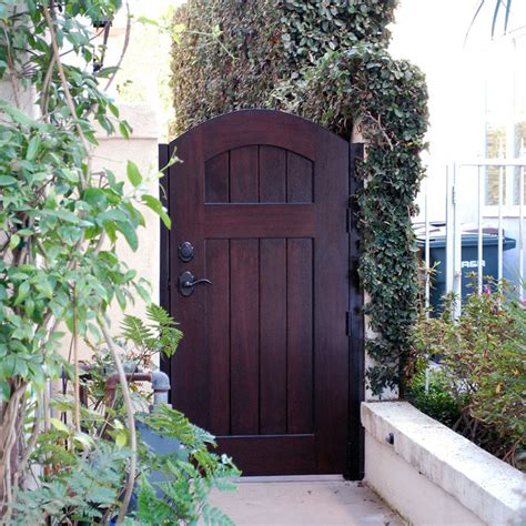 french european style gates handcrafted  solid wood