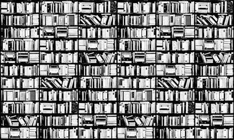 black and white library wallpaper bookshelf graphic black white wall mural photo