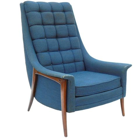 kroehler couch high back midcentury lounge chair by kroehler at 1stdibs