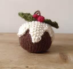 pudding decorations papertoclothstore knitted pudding tree