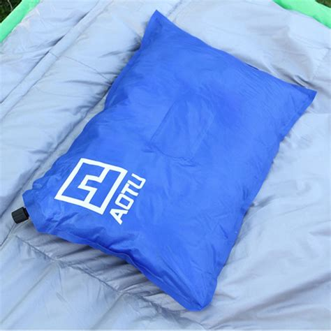 inflatable bed pillow self inflating cing pillow air bed cushion travel