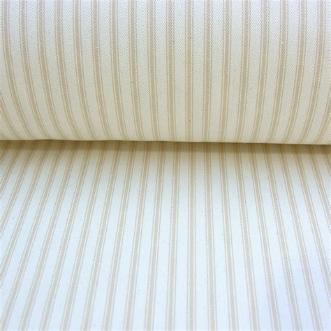 ticking upholstery fabric cotton fabric ticking cream stripe