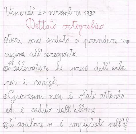 testi dettati prima elementare dettato ortografico
