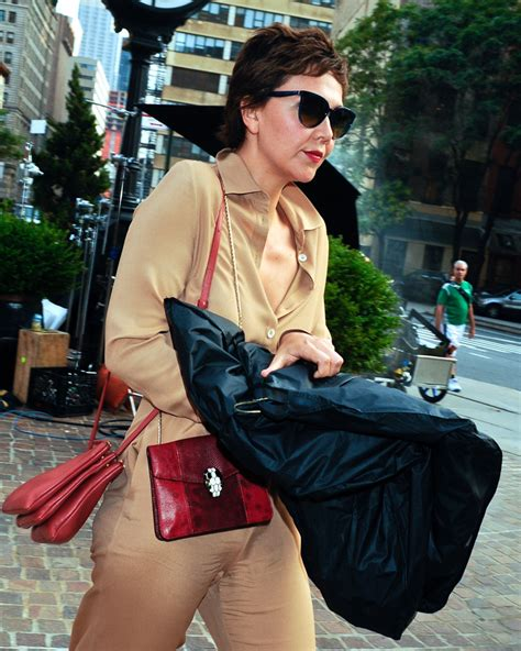 Name That Bag Maggie Gyllenhaal by Maggie Gyllenhaal Carries Both And Buglari To A