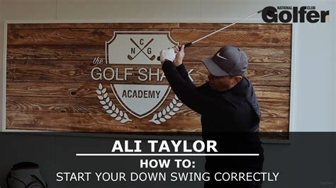 how to initiate swinging ali taylor how to start the downswing correctly