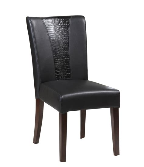 Black Parsons Chair by Powell Black Faux Leather Parsons Chair 502 965