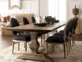 dining room tables furniture dining table black linen chairs traditional