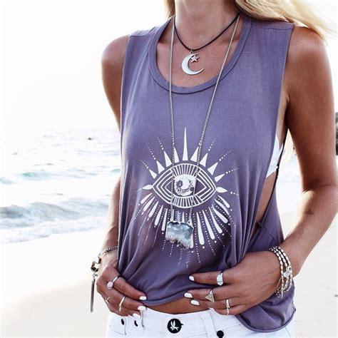 Tshirt Coachella Grey shirt tank top top crop tops boho grey