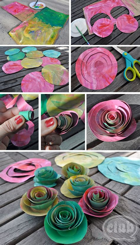 Roses Paper Craft - upcycle an ordinary paper bag into a beautiful paper