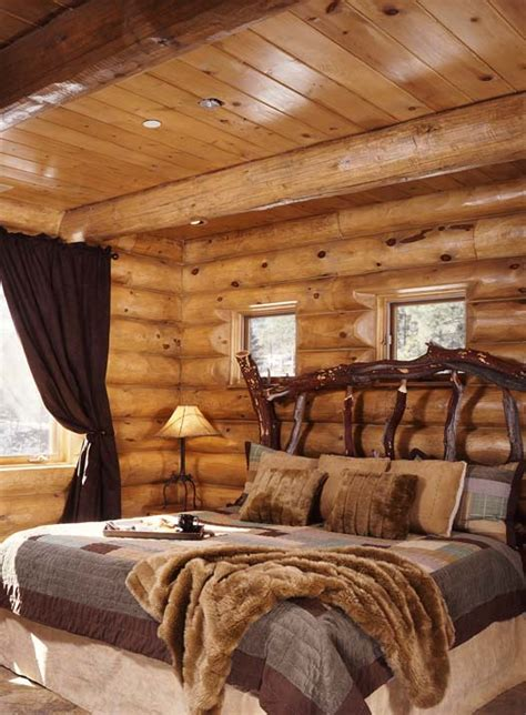 cabin log bedrooms panda s house