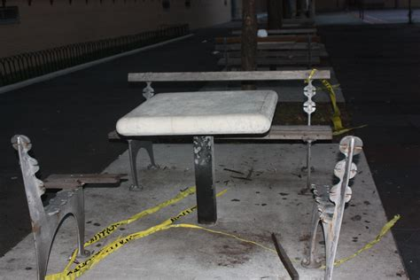 bench forum explosion at p s m s 207 destroys park benches the