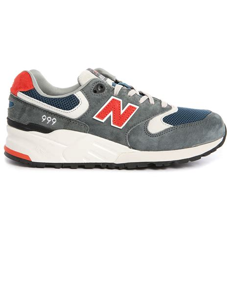 gray new balance sneakers new balance 999 grey and suede and mesh sneakers in