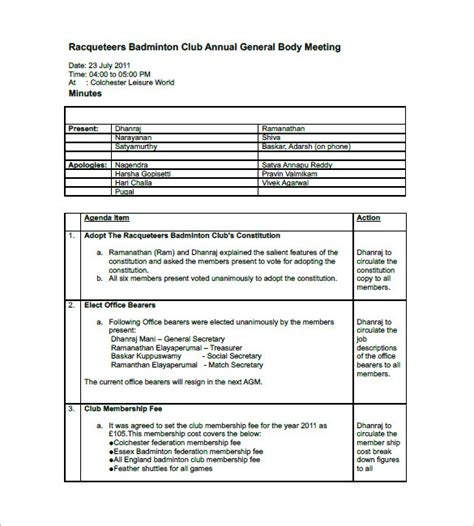 meeting minutes template doc meeting minutes template doc templates resume exles