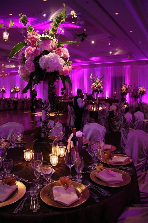 Hot Hot Hot Pink wedding reception!   Beautiful Plaza