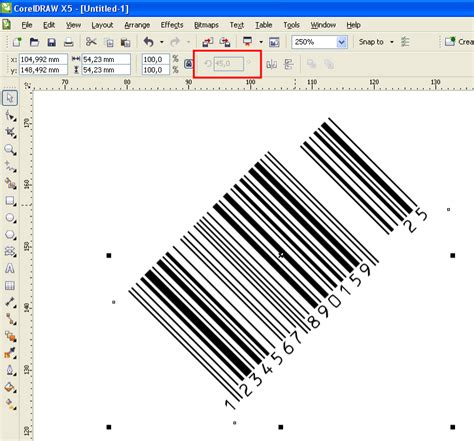corel draw x7 barcode rotate bar codes issue coreldraw graphics suite x7