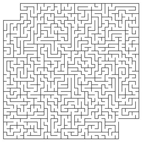printable mazes challenging free coloring pages of complicated maze