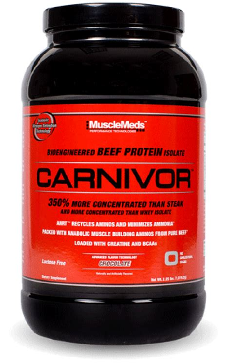 Protein Carnivor carnivor protein powder beef isolate musclemeds
