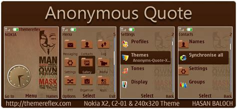 quotes themes for x2 01 anonymous quote theme for nokia x2 c2 01 x2 05 240 215 320